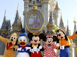 Disney World, Pluto, Donald Duck, Mickey Mouse, Minnie Mouse, Goofy