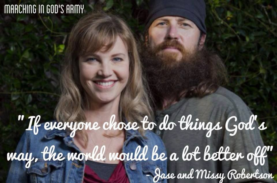 "Jase Robertson and his wife, Missy, of the TV show ""Duck Dynasty ..."