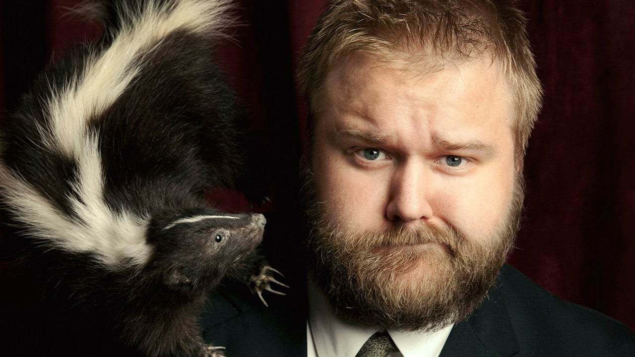 The Walking Dead creator Robert Kirkman and a skunk