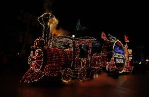 The Electrical Parade train makes it's way through Disney's California Adventure on April 16, 1020. The last Electrical Parade will take place Sunday. We go shoot photos and video and interview guests on their memories of the Electrical Parade before it is shipped off to Walt Disney World in Florida.  PHOTO BY CHRISTINE COTTER, FOR THE ORANGE COUNTY REGISTER. .  PHOTO BY CHRISTINE COTTER, FOR THE REGISTER The last Electrical Parade will take place Sunday. We go shoot photos and video and interview guests on their memories of the Electrical Parade before it is shipped off to Walt Disney World in Florida. Eades to shoot video and do interviews. Need photos of guests we interview and of parade.