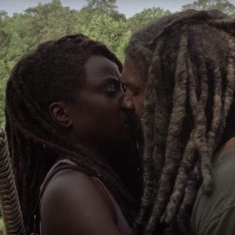 Michonne and Rick on AMC's The Walking Dead