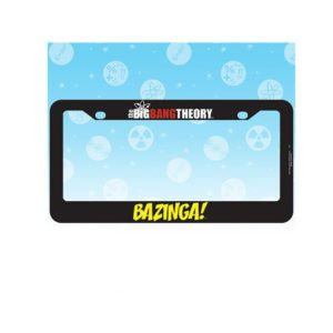 Credit: http://www.cbsstore.com/the-big-bang-theory-bazinga-license-plate-frame/detail.php?p=1016691&v=cbs-thebigbangtheory_featured
